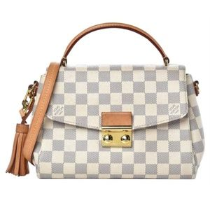 Louis Vuitton Croisette White Damier Azur Canvas